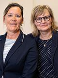 Gabriele Walther und Bettina Adler